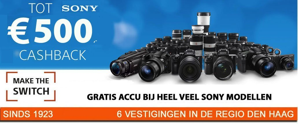 Sony cashback NEBO Den Haag Pijnacker-Nootdorp