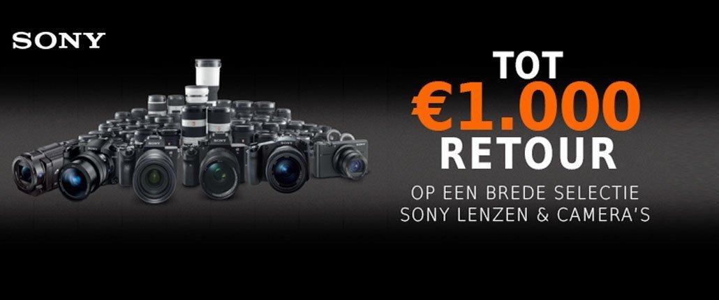 Sony cashback lenzen en fotocamera's