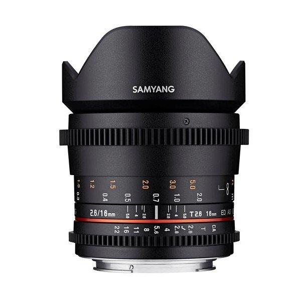 Samyang 16mm T2.6 VDSLR ED AS UMC Canon