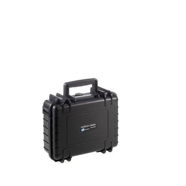 B&W Outdoor.cases Type 1000 zwart / plukschuim
