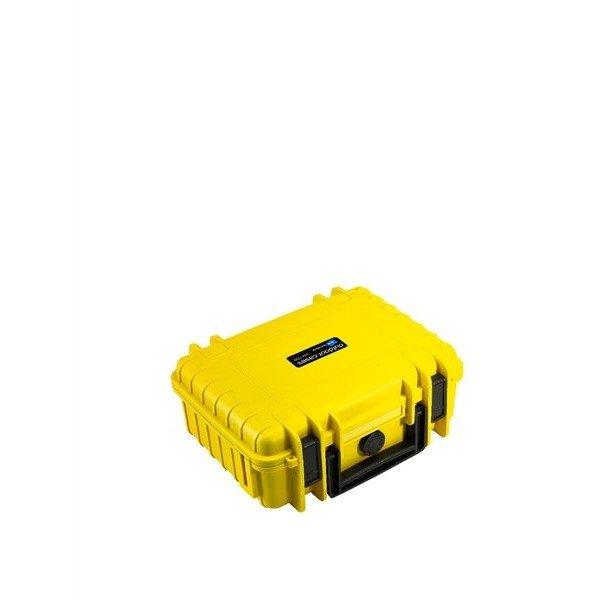 B&W Outdoor.cases Type 1000 geel / plukschuim
