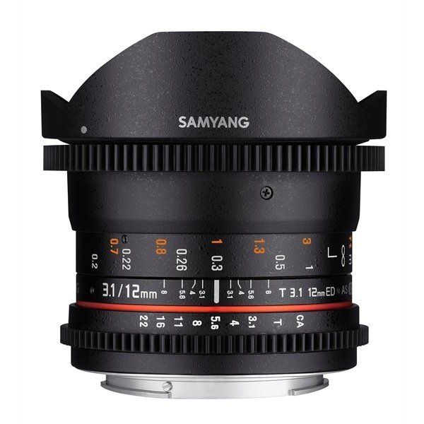 Samyang 12mm T3.1 VDSLR ED AS NCS fisheye Sony E-mount