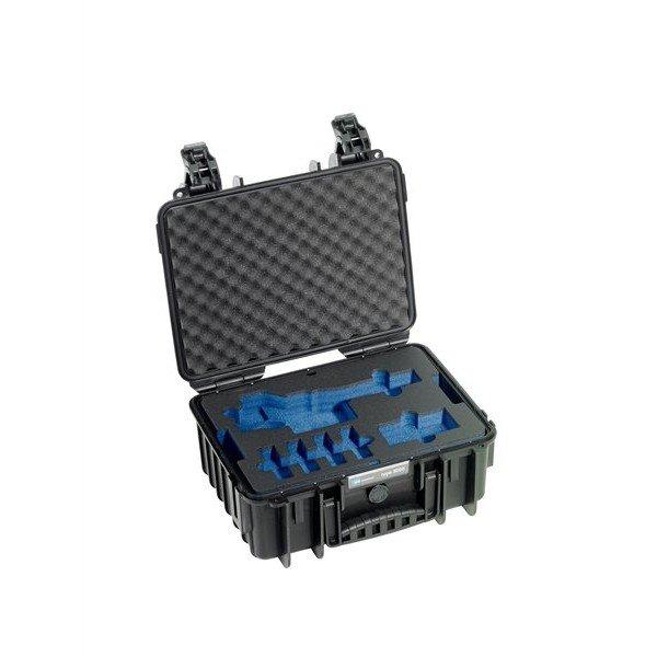 B&W Outdoor.cases Type 3000 zwart / DJI Osmo X3 inlay