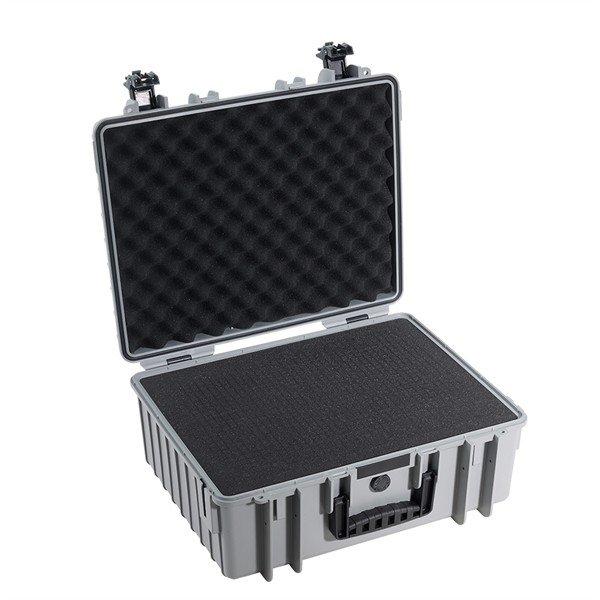 B&W Outdoor.cases Type 6000 grijs / plukschuim
