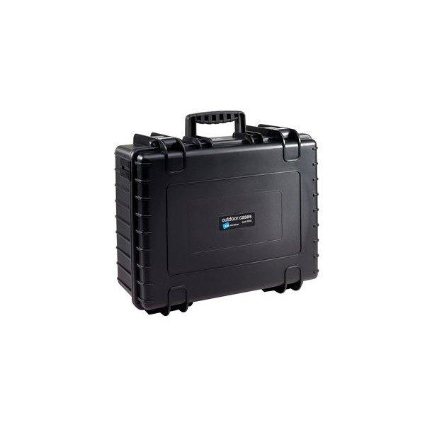 B&W Outdoor.cases Type 6000 zwart / leeg
