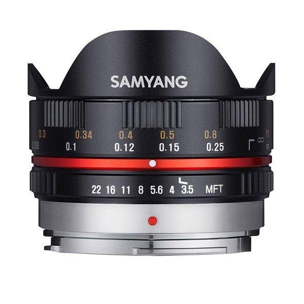 Samyang 7,5mm F3,5 UMC fisheye MFT zwart
