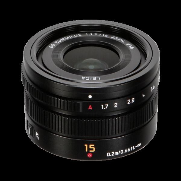Panasonic MFT 15/1.7 zwart ASPH Leica DG Summilux