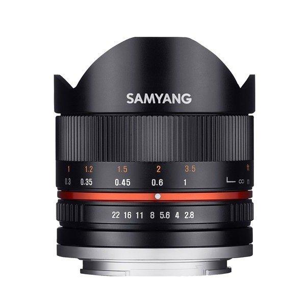 Samyang 8mm F2.8 UMC fisheye II Canon M zwart