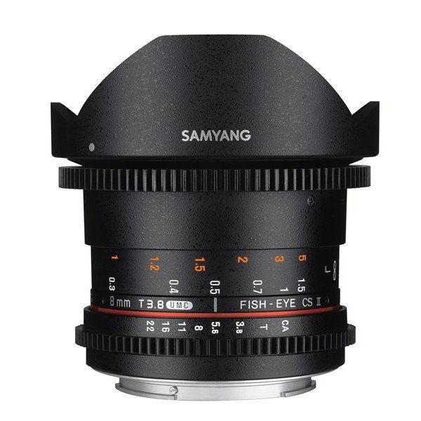 Samyang 8mm T3.8 UMC VDSLR fisheye CSII Canon M
