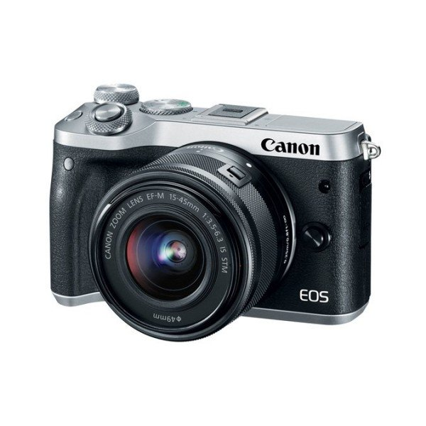 Canon EOS M6+M15-45 IS STM zilver