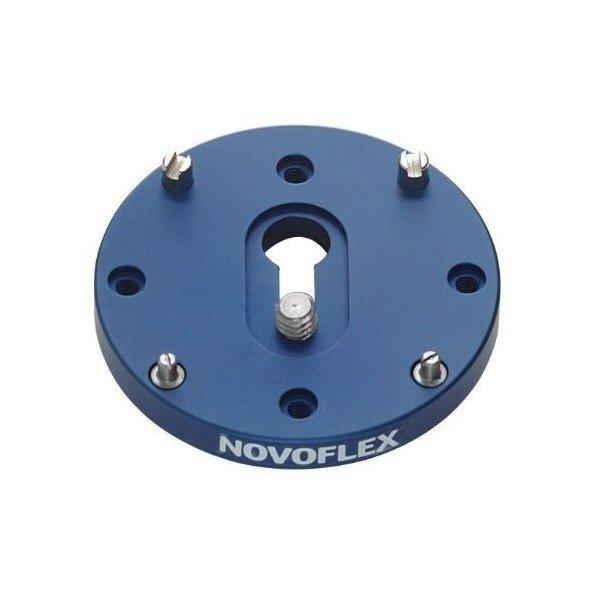 Novoflex Snelkoppelplaat rond voor middenformaat camera's anti-roteer