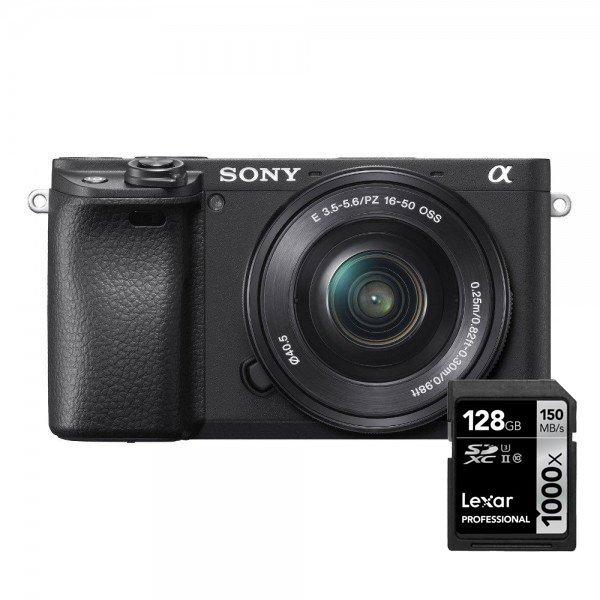 Sony A6400 16+50 objectief incl lexar geheugenkaart
