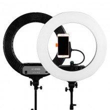 Caruba ringlamp LED vloggerset 18 inch wit