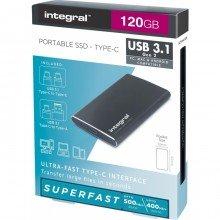 Integral 120GB Integral USB3.1+Type-C Portable SSD