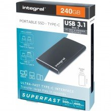 Integral 240GB Integral USB3.1+Type-C Portable SSD