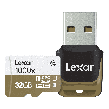 Lexar micro SDHC 32gb UHS II 1000x + adapter