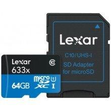 Lexar microSDHC High Speed 64GB UHS I 633x