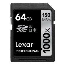 Lexar SDXC 64gb 1000x UHS II