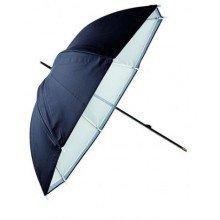 Linkstar Flitsparaplu PUK-84WB Wit/Zwart 100 cm (Omkeerbaar)