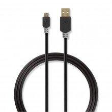 Nedis micro usb kabel 1 mtr ckbw60500at10