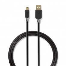 Nedis mini usb kabel 2 mtr ccbw60300at20