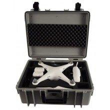 B&W Outdoor.cases Copter.case grijs wheels / hardfoam DJI Phantom 2