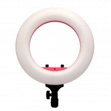 Caruba ringlamp LED vloggerset 12 inch roze