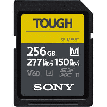 Sony SDXC M Tough series 256GB UHS-II Class 10 U3 V60