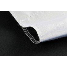 StudioKing Achtergronddoek 2,7x5 m Wit/Zwart