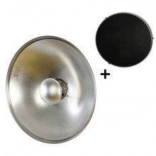 StudioKing Beauty Dish Zilver SK-BD550 55 cm met Honingraat