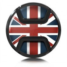 Kaiser Lens cap snap-on style union jack 58mm