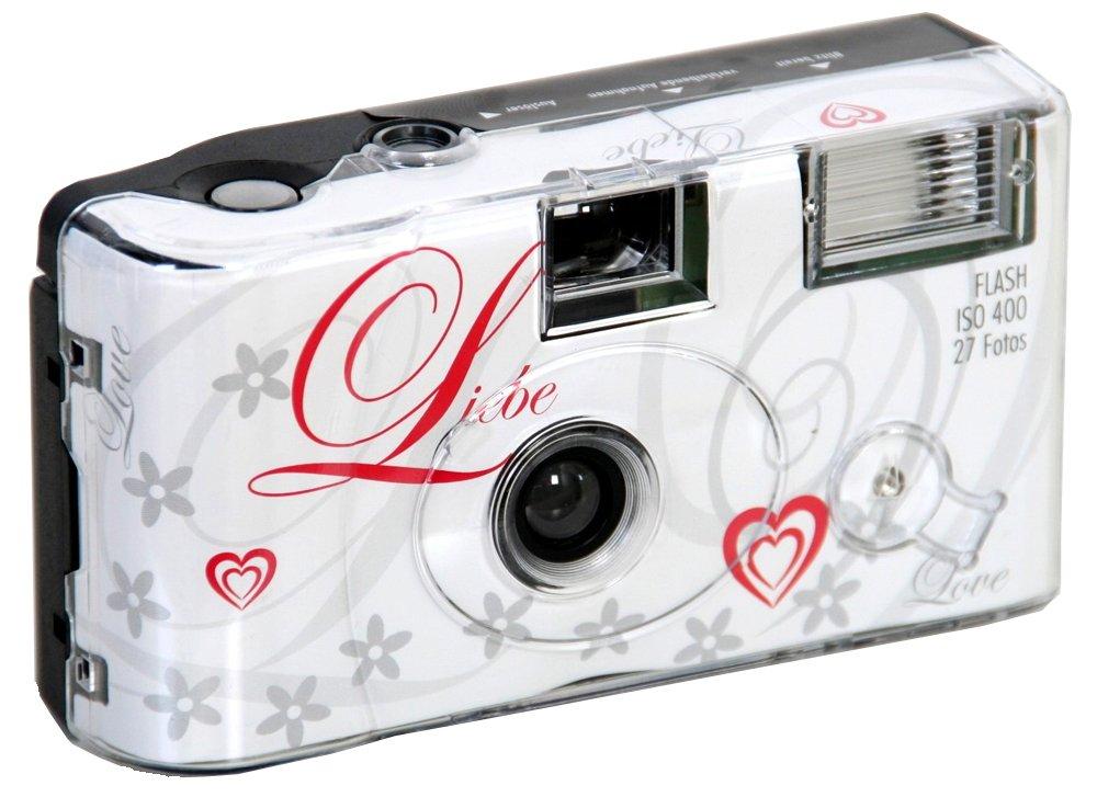 wegwerp camera bruiloft thema love