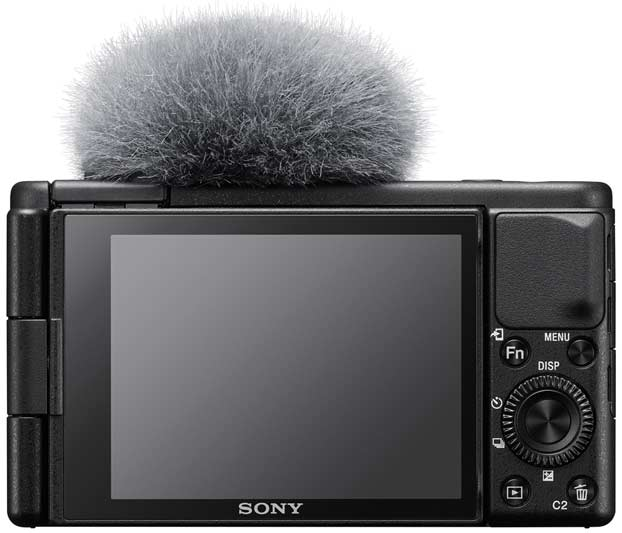 Sony vlogcamera met externe microfoon aansluiting