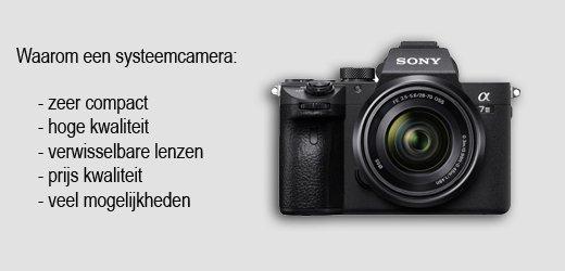 systeemcamera voor portretfoto