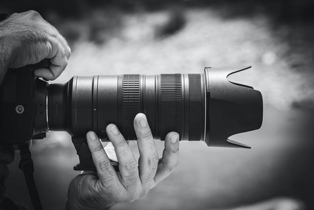 Cameralens bij diafragma
