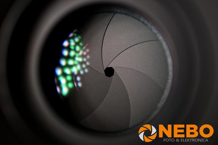 Diafragma fotografie NEBO