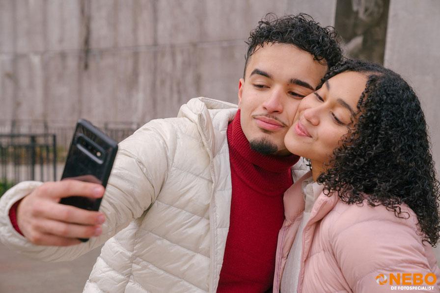 foto maken met smartphone gezichtsherkenning