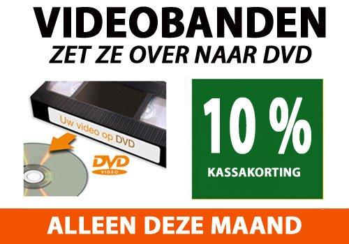 Videobanden overzetten naar DVD actie NEBO Den Haag