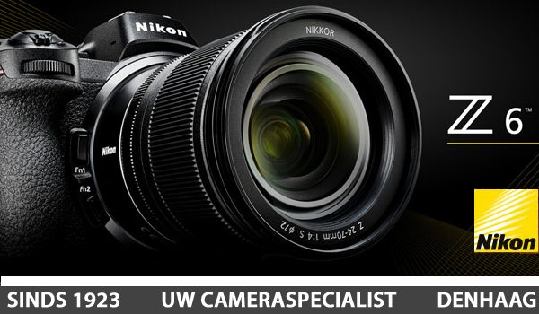 Nikon Z6 full frame systeemcamera